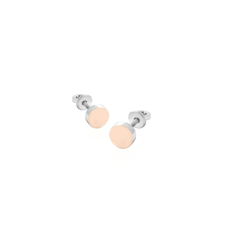 Sterling silver screw back earrings with 9ct gold plates