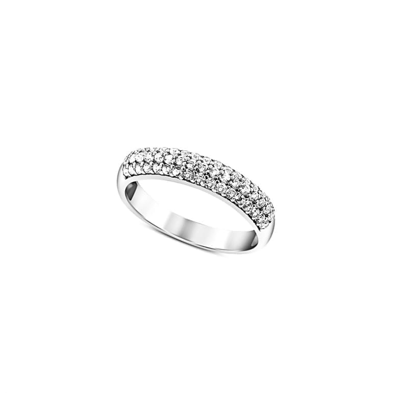 14ct White Gold Ring With Cubic Zirconia