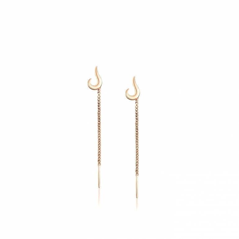 14ct Rose Gold Dangling Earrings