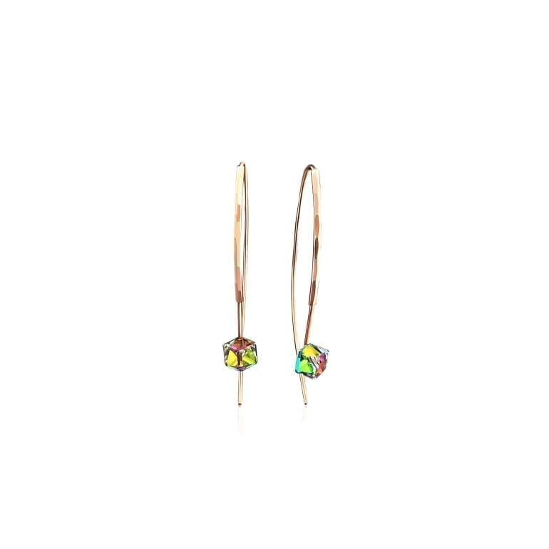 14ct rose gold earrings with Swarovski crystals