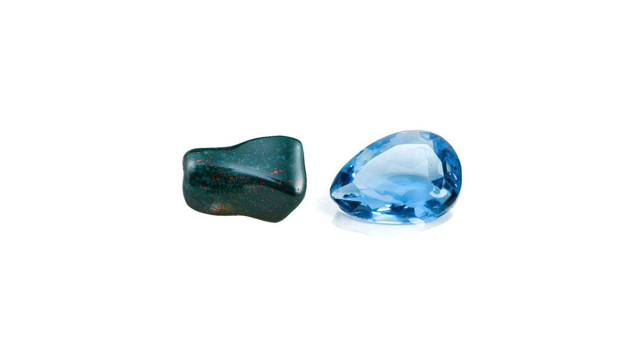 March – Aquamarine and Bloodstone