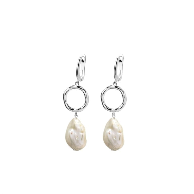 Sterling Silver Dangling Earrings With Pearls