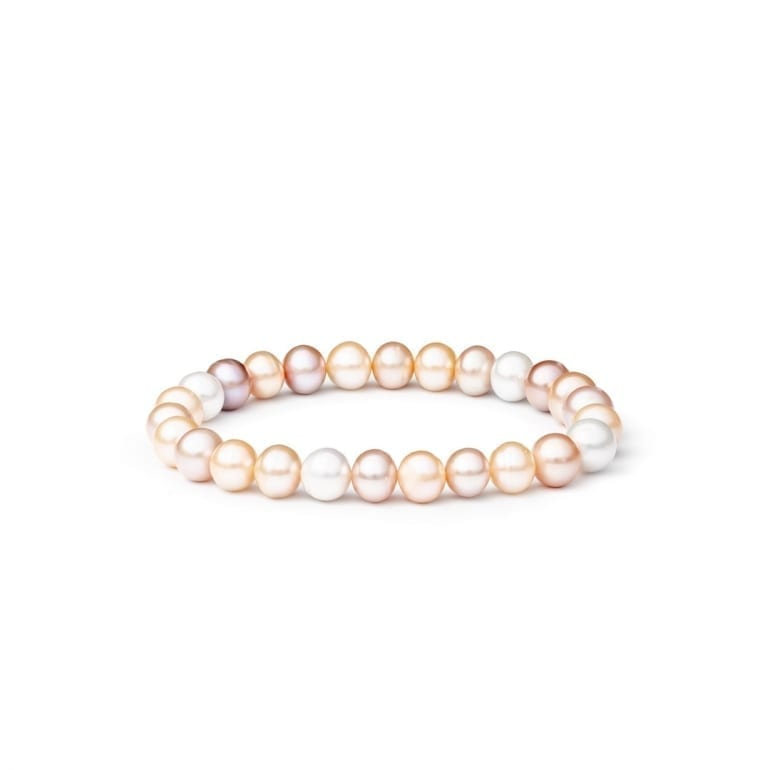 Bracelet with cultivated pearls