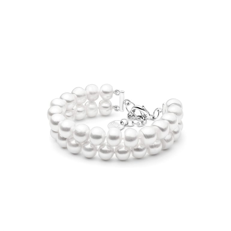 White cultivated pearl bracelet