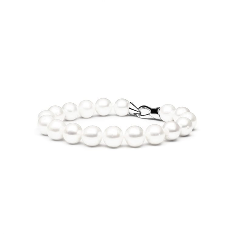 Sterling Silver Bracelet With Cultivated Pearls