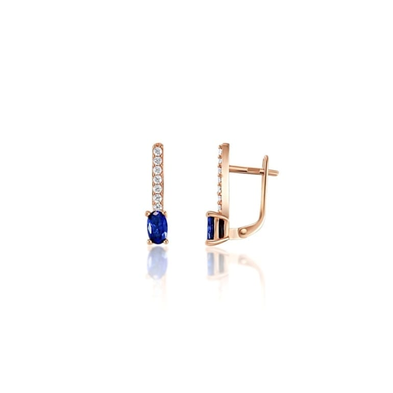 Rose Gold Earrings With Cubic Zirconia