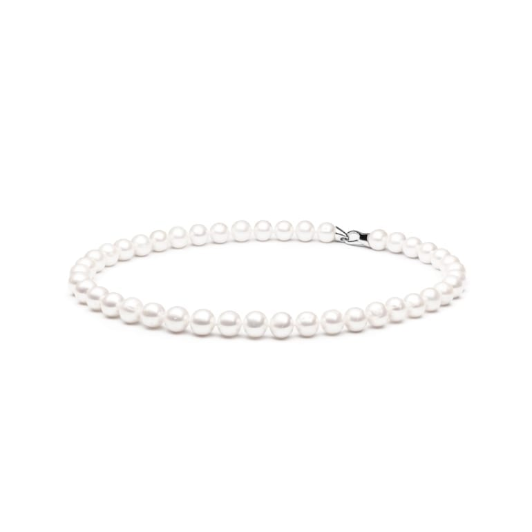 Sterling Silver Necklace With Cultivated Pearls
