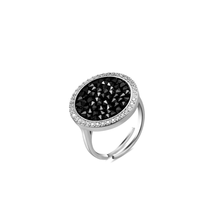 Sterling silver ring with swarovski crystals