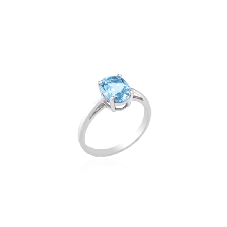 Sterling silver ring with topaz