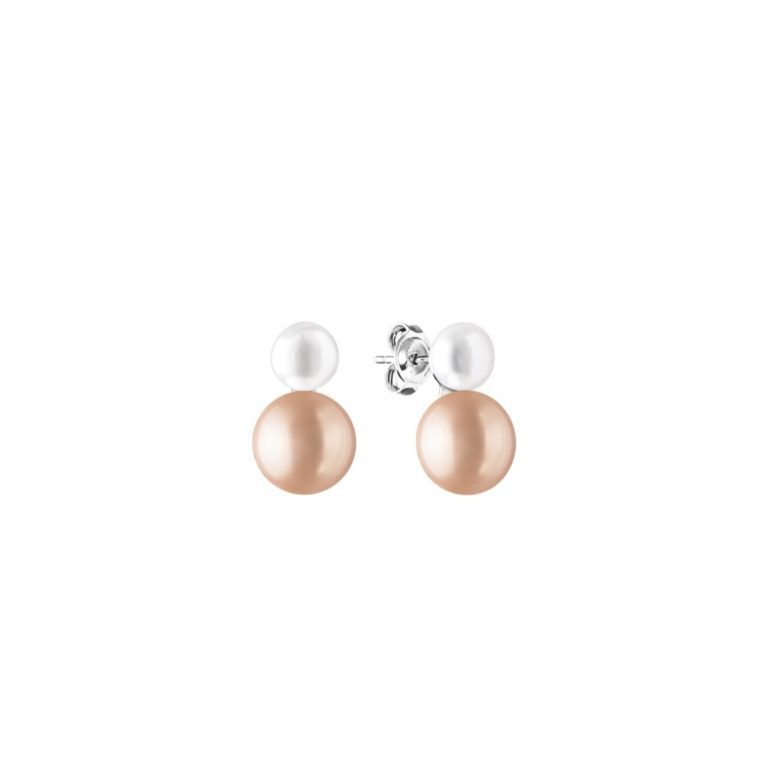 sterling silver earrings with cultivated pearls