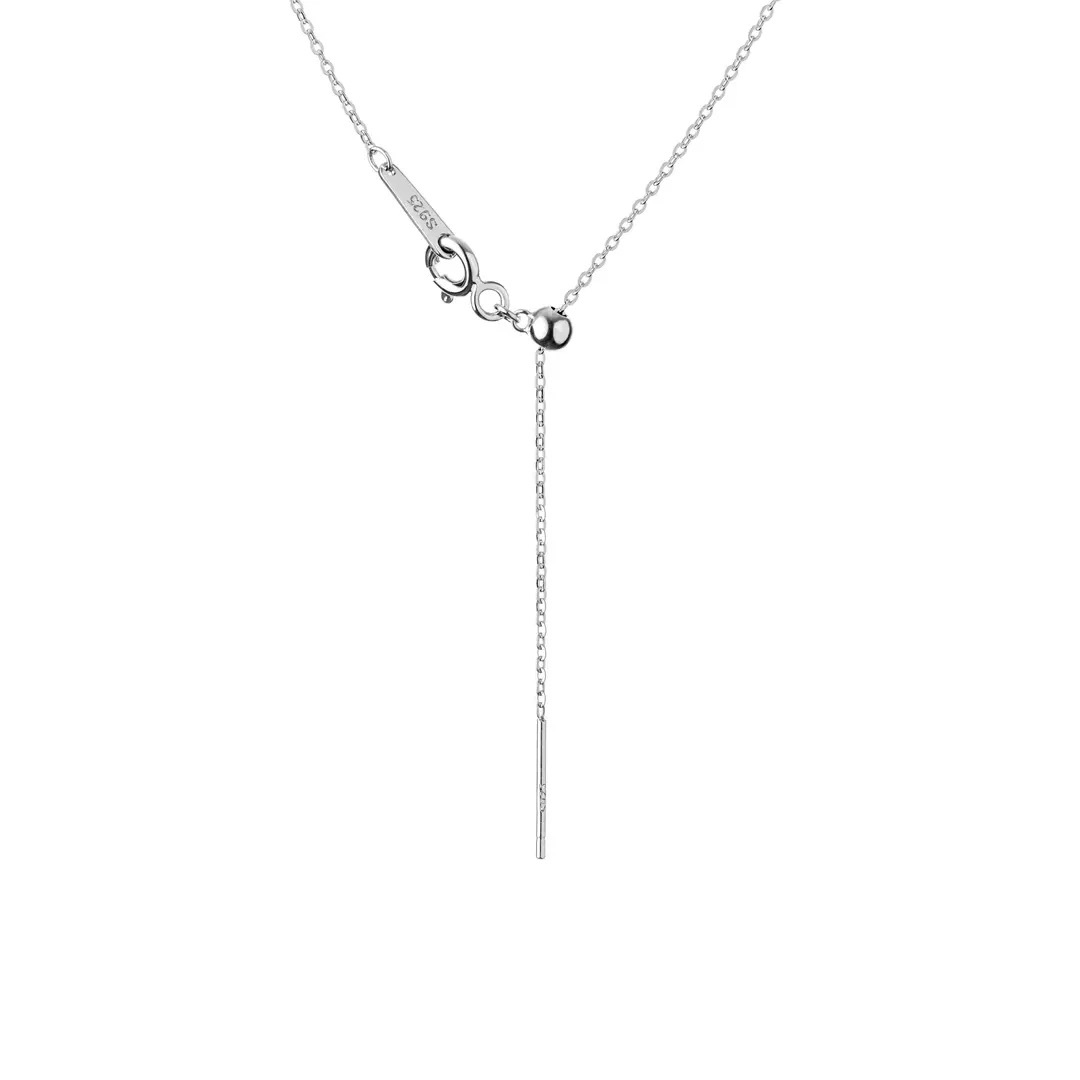 Sterling silver necklace with cultivated pearl