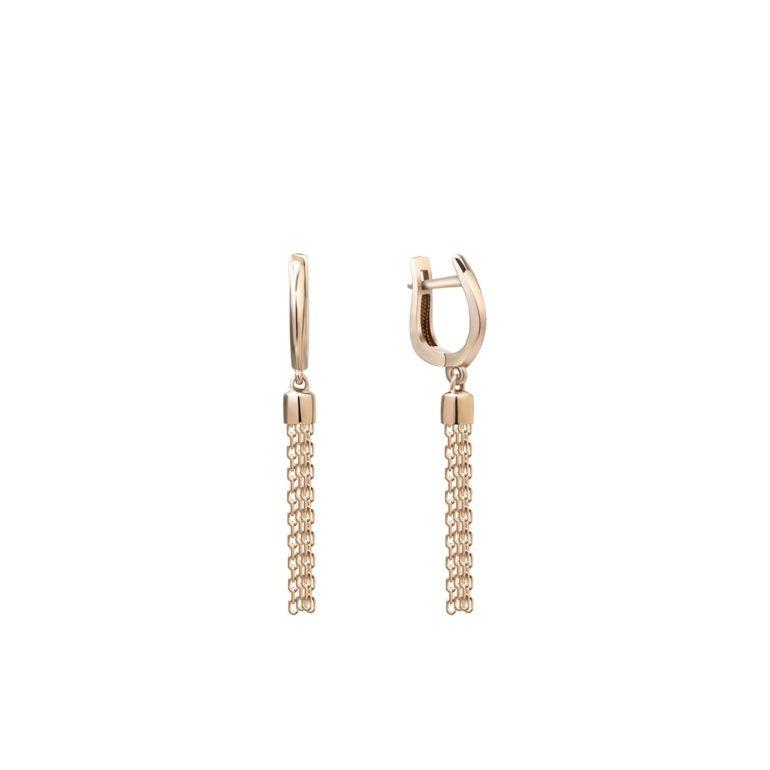 14ct rose gold dandling earrings
