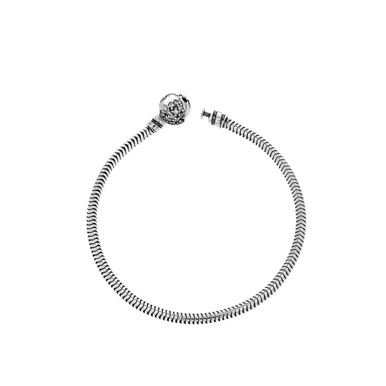 sterling silver bracelet with cubic zirconia